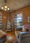 Durango Hesperus Colorado vacation rental Cranberry Cottage Riverside Cabin dining room