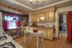Durango Hesperus Colorado vacation rental Cranberry Cottage Riverside Cabin kitchen country decor