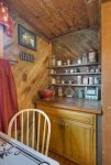 Durango Hesperus Colorado vacation rental Cranberry Cottage Riverside Cabin Breakfast room table