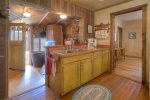 Country kitchen in Durango Hesperus Colorado vacation rental Cranberry Cottage Riverside Cabin