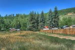 Approach to home at Durango Hesperus Colorado vacation rental Cranberry Cottage Riverside Cabin