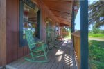 Durango Hesperus Colorado vacation rental Cranberry Cottage Riverside Cabin front porch
