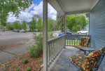 Downtown Cottage vacation rental home in Durango Colorado covered porch