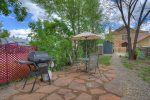 Downtown Cottage vacation rental home in Durango Colorado BBQ patio in backyard