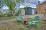 Private parking in back of home Downtown Cottage vacation rental home in Durango Colorado
