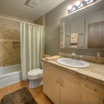 Hal and full bath in Durango Colorado vacation rental condo at Purgatory Resort hot tub pool gym