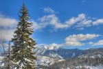 Winter snow at Durango Colorado vacation rental condo Purgatory Resort