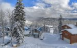 Winter mountain views from vacation rental condo at Purgatory Ski Resort Durango CO