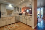 Durango Colorado vacation rental condo at Silverpick near Purgatory Resort custom tile in kitchen