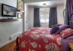 Romantic bedroom in Durango Colorado vacation rental condo at Silverpick near Purgatory Resort