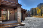 Front entry to home of Durango Colorado vacation rental condo at Silverpick near Purgatory Resort