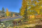 Durango Colorado vacation rental condo at Silverpick near Purgatory Resort fall color aspen views