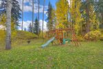 Kids playground at Silverpick vacation rental in Durango Colorado