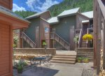 Courtyard area at Silverpick vacation rental Durango Colorado