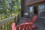 Durango Colorado vacation rental condo at Silverpick near Purgatory Resort outdoor dining in fall color