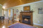Durango Colorado vacation rental home O`Reilly House living room fireplace