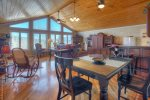 Dining room and living room in Durango Colorado vacation rental home