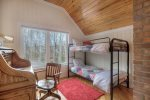 O`Reilly House vacation rental home in Durango Colorado bedroom w bunk beds and computer desk