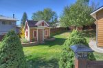 Durango Colorado vacation rental home O`Reilly House backyard lawn