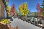 Front deck Durango Colorado vacation rental home O`Reilly House