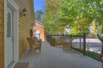 O`Reilly House vacation rental home in Durango Colorado side deck with grill and outdoor seating