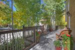 Front deck balcony at O`Reilly House vacation rental home in Durango Colorado
