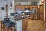 Gourmet kitchen in Durango Colorado vacation rental at Purgatory Resort in Peregrine Point Condominiums