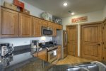 Modern kitchen Vacation rental ski condo at Purgatory Resort in Durango Colorado
