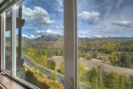 Bedroom mountain views Durango Colorado vacation rental condo at Purgatory Resort Mountain View Luxury Condo