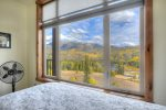 Luxury bedrooms w mountain views in Purgatory Resort vacation rental condo in Durango Colorado