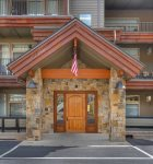 Front entrance to Durango Colorado vacation rental at Purgatory Resort in Peregrine Point Condominiums