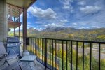 Durango Colorado vacation rental condo at Purgatory Resort Mountain View Luxury Condo balcony w grill