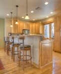 Kitchen counter dining in Durango Colorado vacation rental townhome between downtown and Purgatory Resort