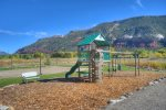 Playground and picnic area at vacation rental townhome in Durango Colorado