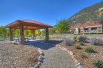 Gazebo playground and picnic area in vacation rental in Durango Colorado