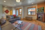 Durango Colorado vacation rental townhome in town between downtown and Purgatory Resort living room
