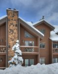 Cozy condo vacation rental at Cascade Village near Purgatory Resort Durango Colorado balcony w mountain views