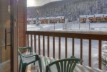 Cozy condo vacation rental at Cascade Village near Purgatory Resort Durango Colorado balcony mountain view