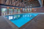 Indoor swimming pool and hot tub at Cascade Village vacation rental ski condo in Durango Colorado
