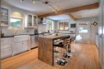 Chefs dream gourmet kitchen in Durango Colorado vacation rental cabin home The Rock House