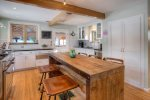 Custom gourmet kitchen in Durango Colorado vacation rental cabin home The Rock House