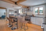 Modern appliances in kitchen of Durango Rock House vacation rental home cabin Colorado