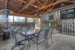 Outdoor dining pavilion at Durango Rock House vacation rental home in Durango Colorado