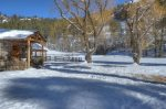 Durango Colorado vacation rental home in winter mountain snow