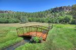 Back lawn and moutnain views at vacation rental home between Durango Colorado and Purgatory Resort
