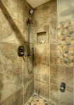 Custom tile in Durango Colorado vacation rental condo near Purgatory Resort at Cascade Village