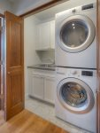 Laundry room in Downtown Penthouse Condo vacation rental in Durango Colorado