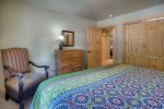 Master bedroom in Durango Colorado vacation rental condo at Purgatory Resort