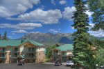 Front of Building atDurango Colorado vacation rental ski condo at Purgatory Resort