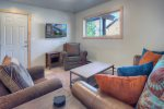 Living room in Durango Colorado vacation rental ski condo at Purgatory Resort